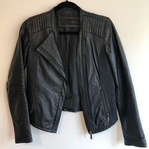 Zara Leather Moto Jacket - Size M